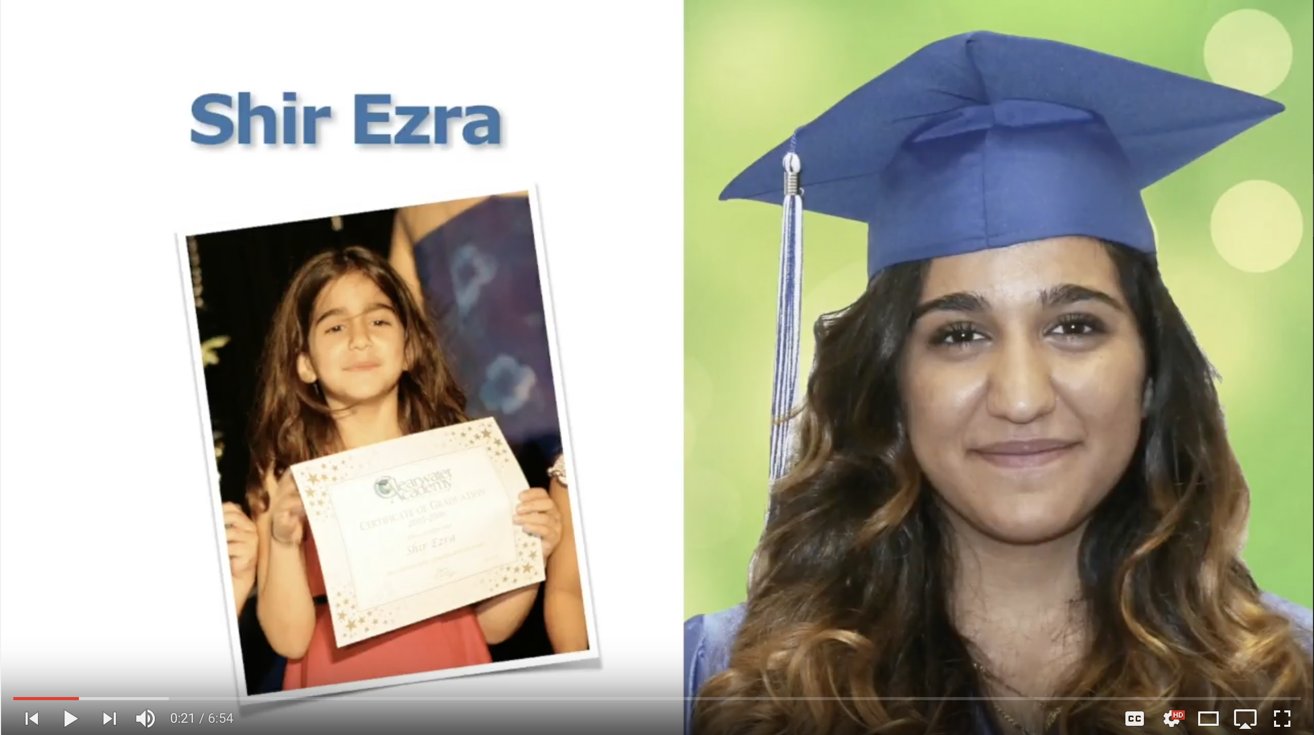Shir Ezra - Class of 2017 - Clearwater Academy Int