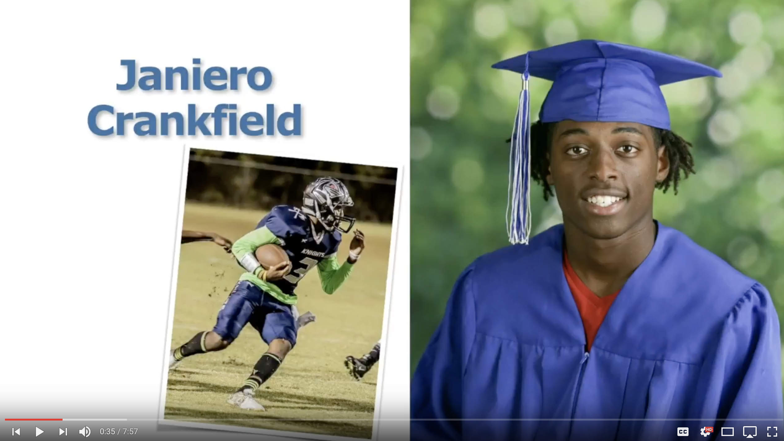 Janiero Crankfield - Class of 2017 - Clearwater Academy Int
