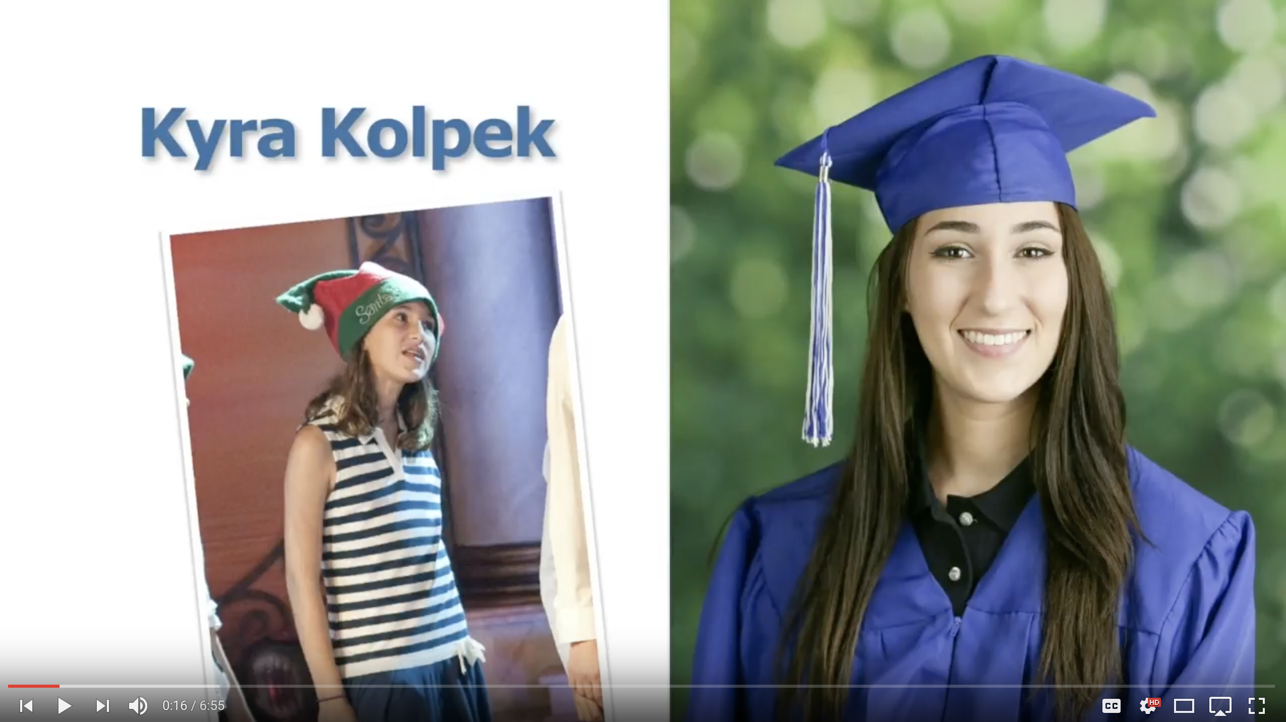 Kyra Kolpek - Class of 2017 - Clearwater Academy Int